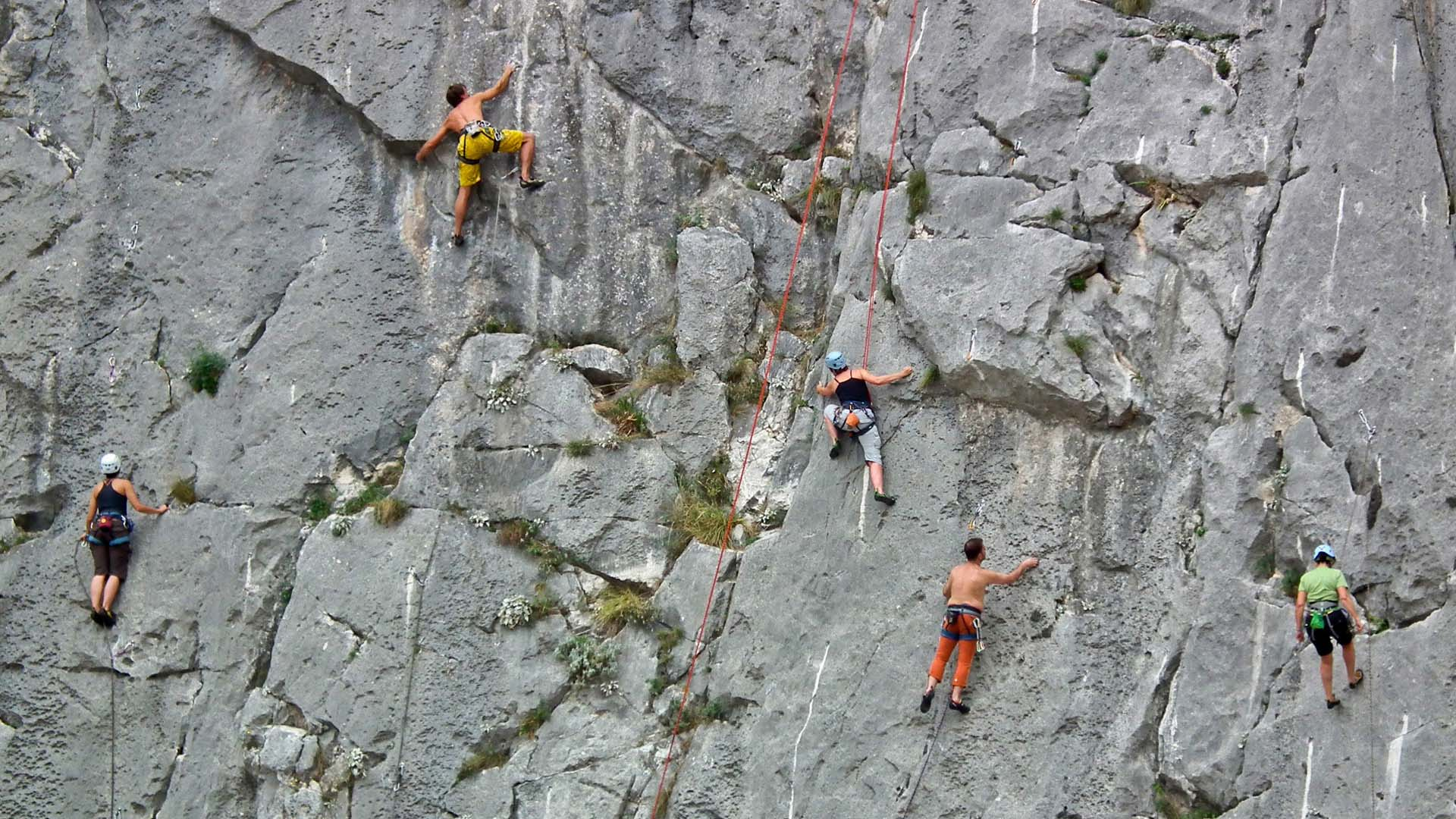 Omis free climbing